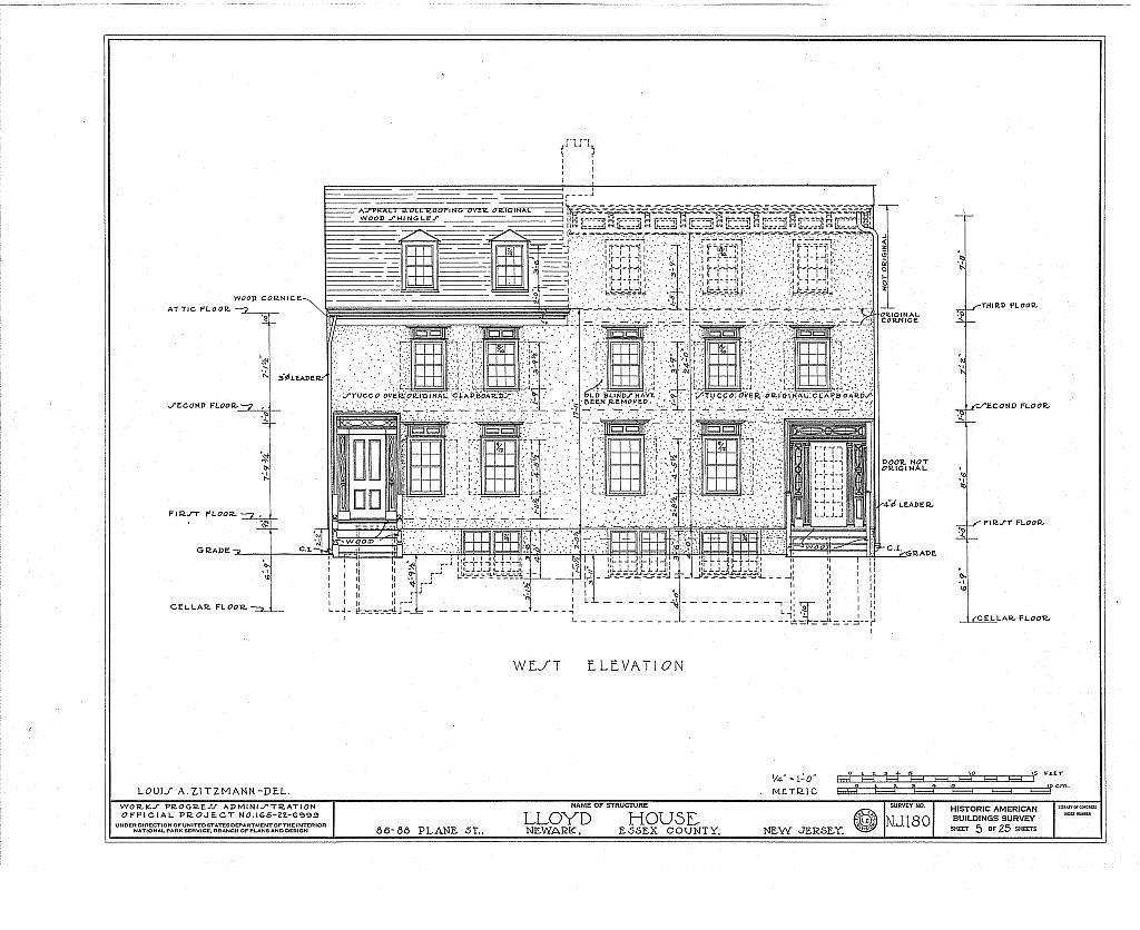 Davis-Agnew-Lloyd Houses, 86-88 Plane Street, Newark, Essex County, NJ