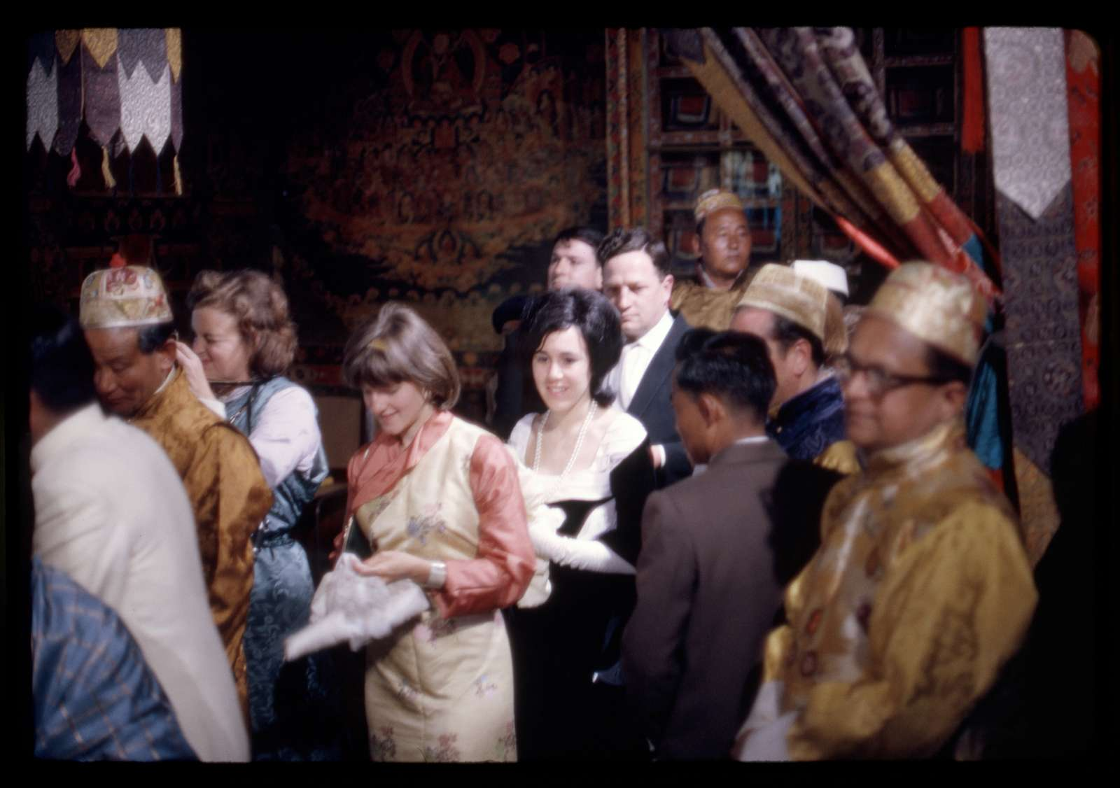 [Guests at the coronation of King Palden Thondup Namgyal, including Alice Kandell, Gangtok, Sikkim]