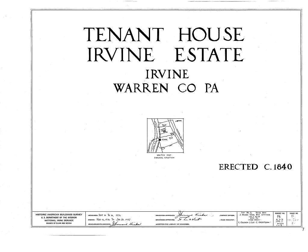 Irvine Estate, Tenant House, Irvine, Warren County, PA