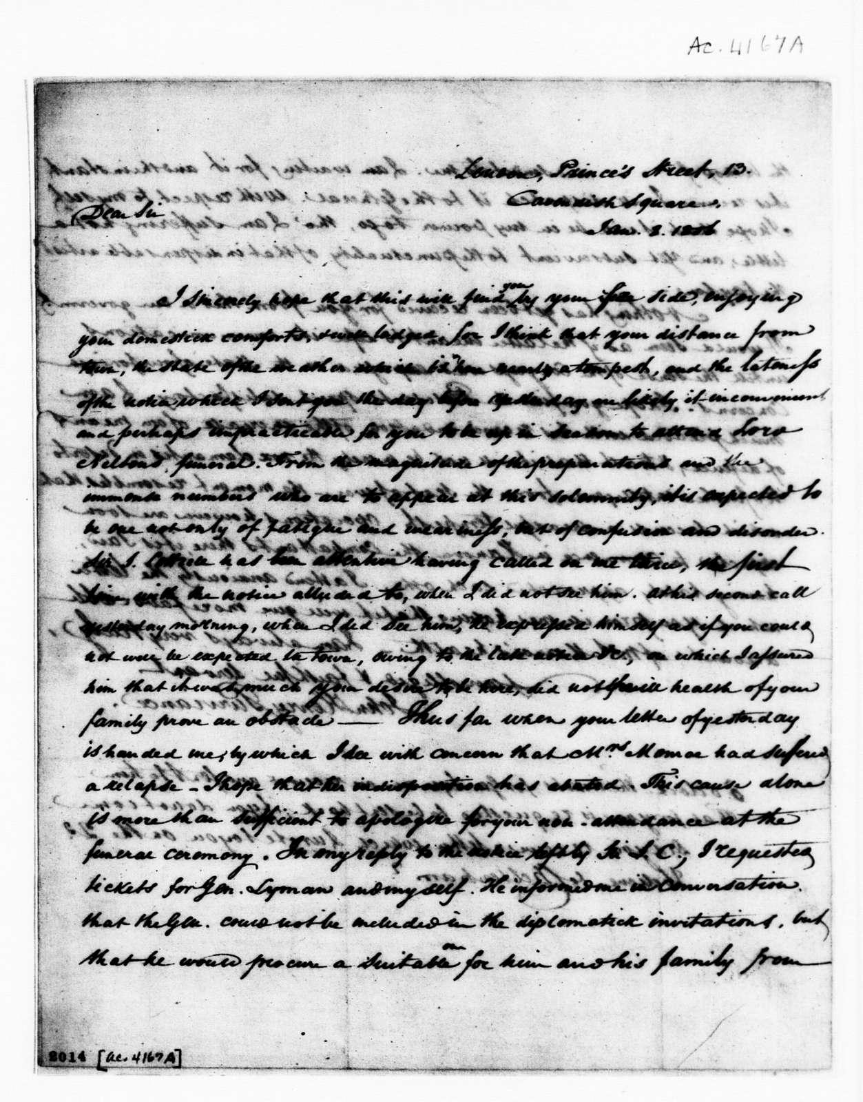 James Monroe Papers: Series 1, General Correspondence, 1758-1839; 1803 Oct. 9-1807 Jan. 16 (Reel 3)