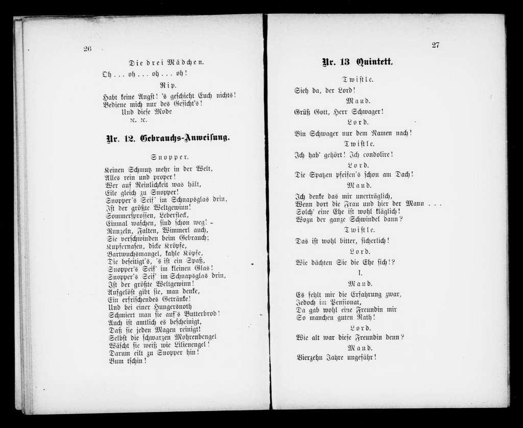 Strohwitwe. Libretto. German
