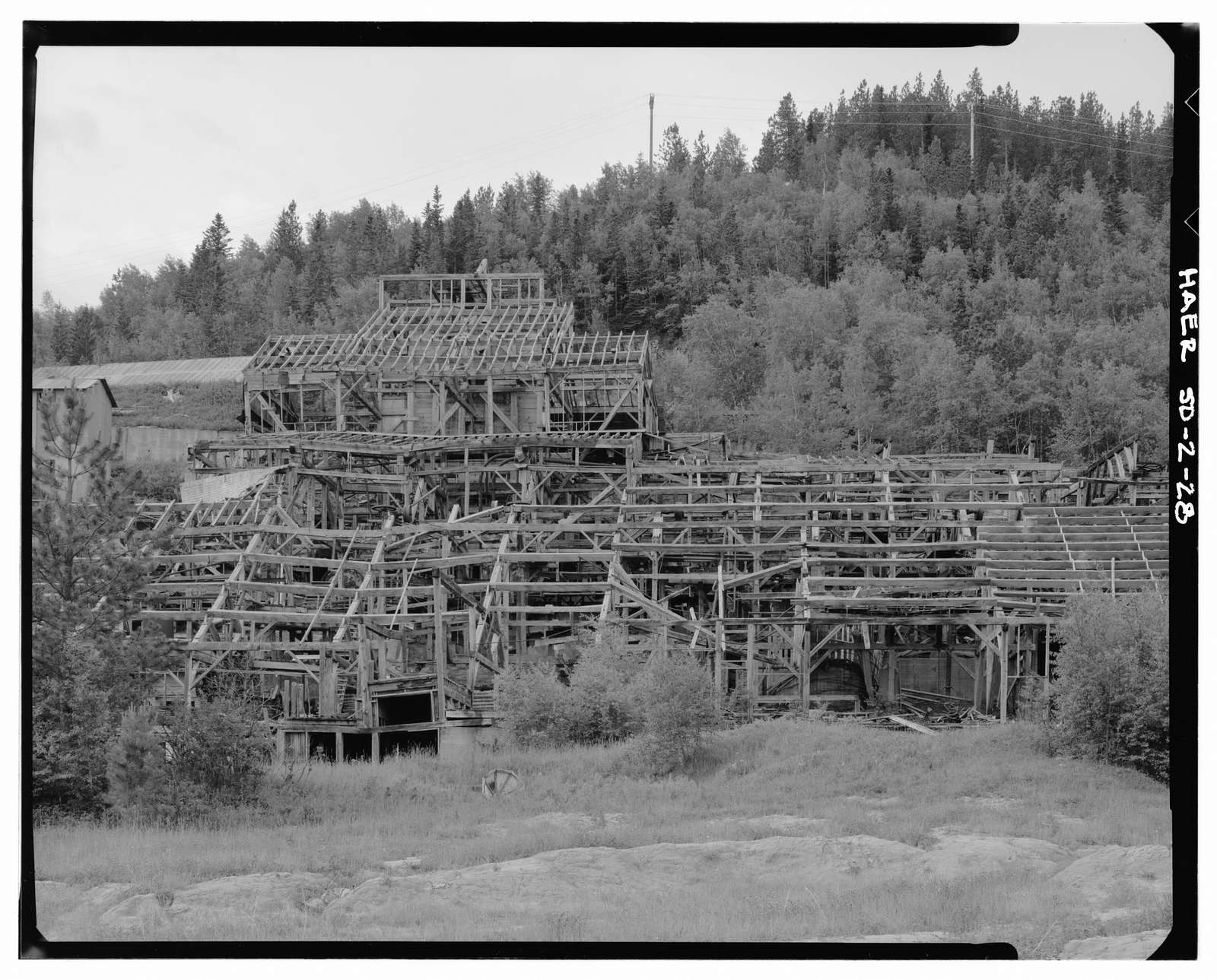Bald Mountain Gold Mill, Nevada Gulch at head of False Bottom Creek, Lead, Lawrence County, SD