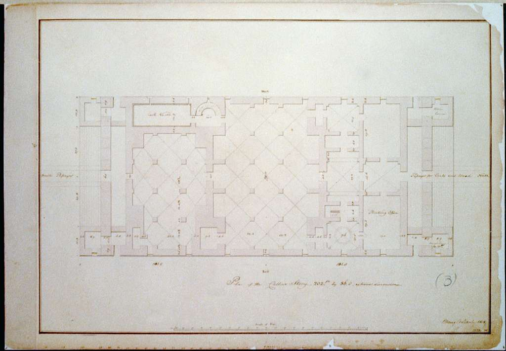 "[Bank building (""2nd Bank of the United States""), Philadelphia, Pennsylvania. Cellar story plan]"