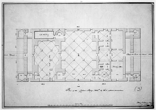 "[Bank building (""2nd Bank of the United States""), Philadelphia, Pennsylvania. Cellar story plan]"