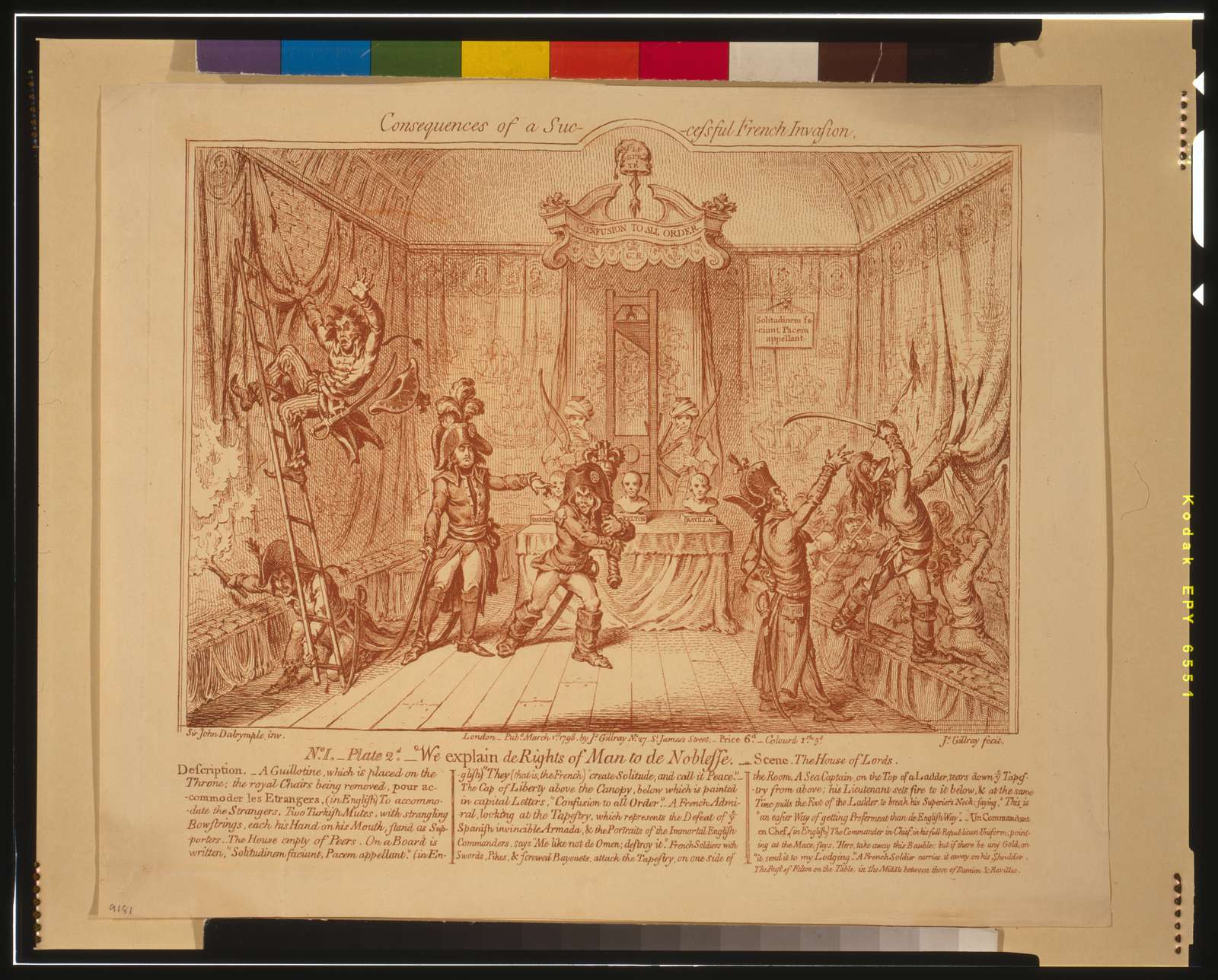 Consequences of a successful French invasion / Sir John Dalrymple, inv.; Js Gillray, fecit.