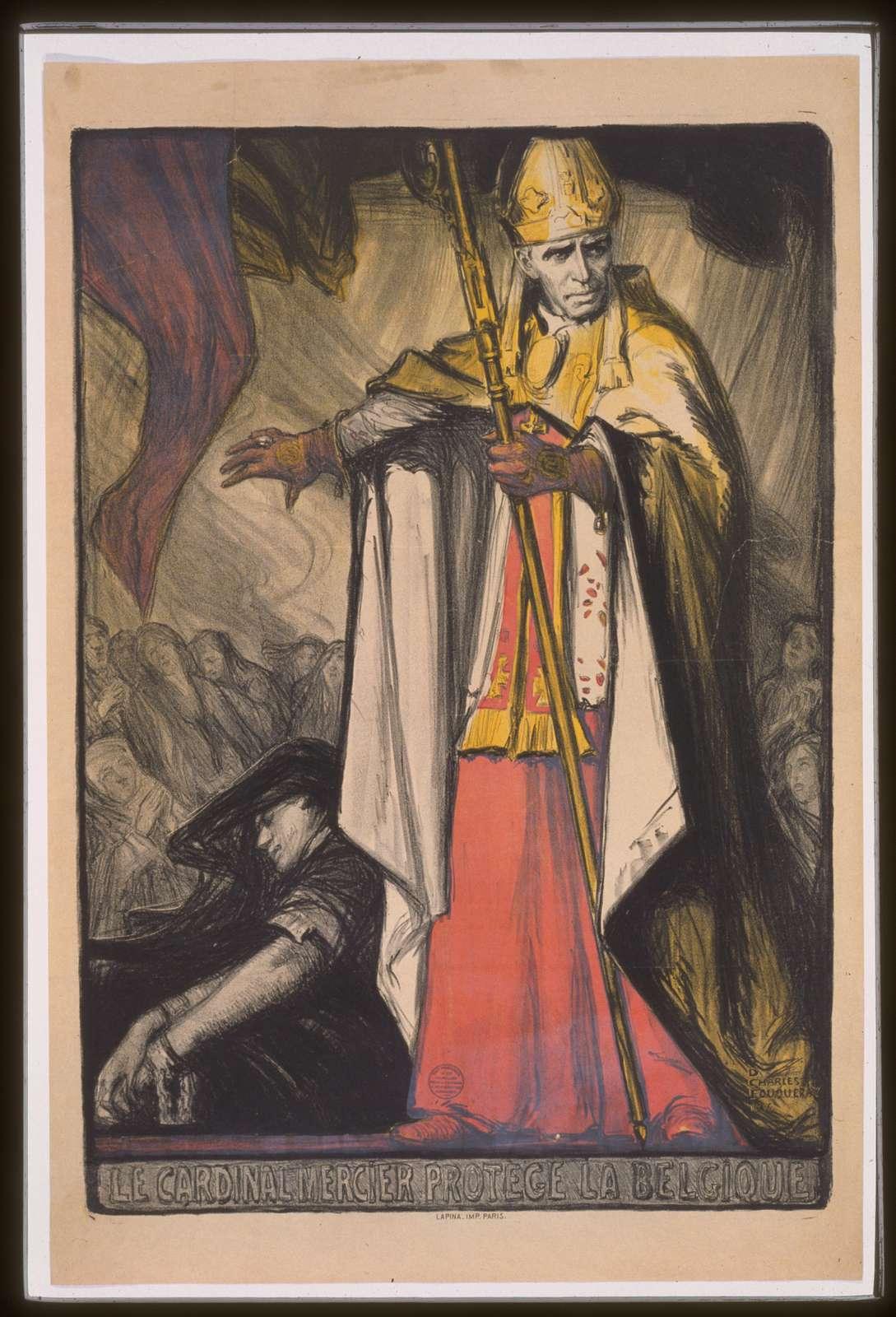 Le Cardinal Mercier protége la Belgique
