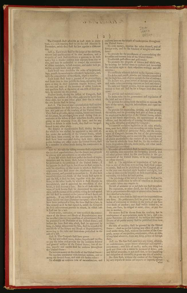 Supplement to the Independent journal, Saturday, September 22, 1787 : copy of the result of the deliberations of the Federal Convention.