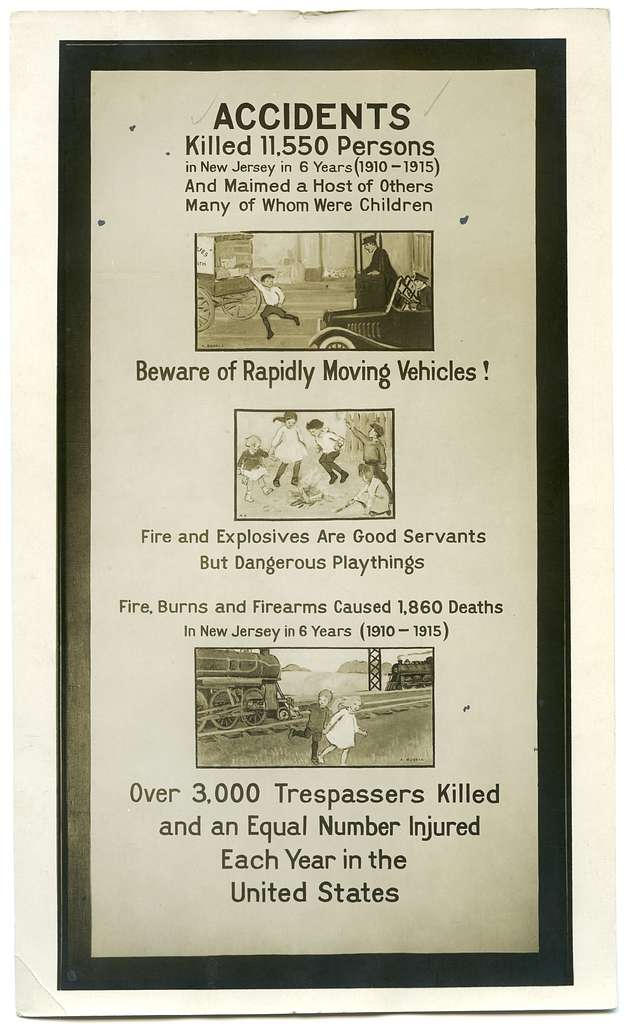 Accidents killed 11,550 persons in New Jersey in 6 years (1910-1915)