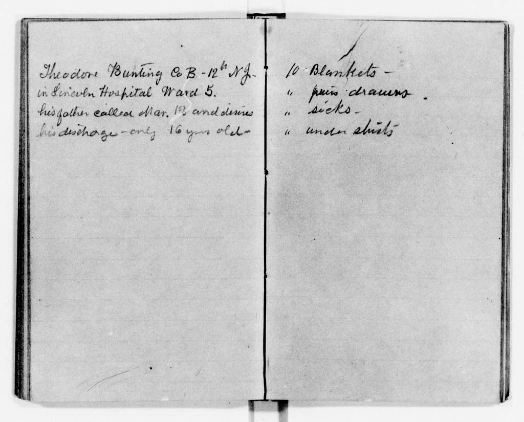 Clara Barton Papers: Diaries and Journals: 1863, Jan.-Feb.