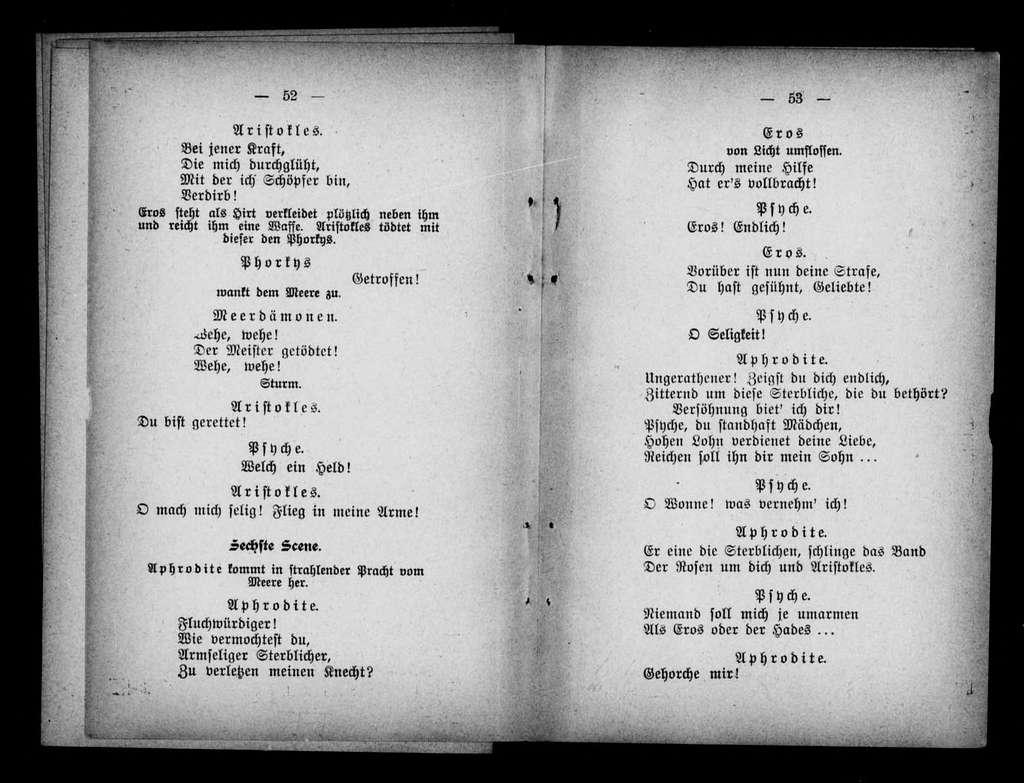 Eros und Psyche. Libretto. German