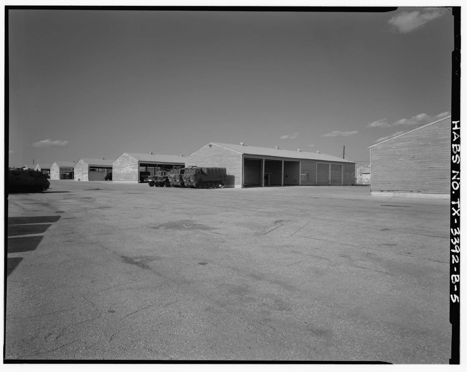 Fort Hood, World War II Temporary Buildings, Company Maintenance Shop & Arms Room, North of Park Avenue at Forty-ninth Street, Killeen, Bell County, TX