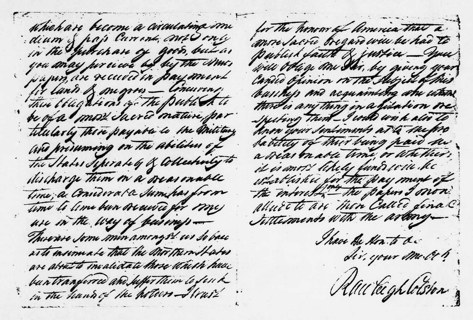 James Monroe Papers: Series 2, Additional Correspondence, 1776-1838; 1776 July 10-1792 Sept. 30 (Reel 9)