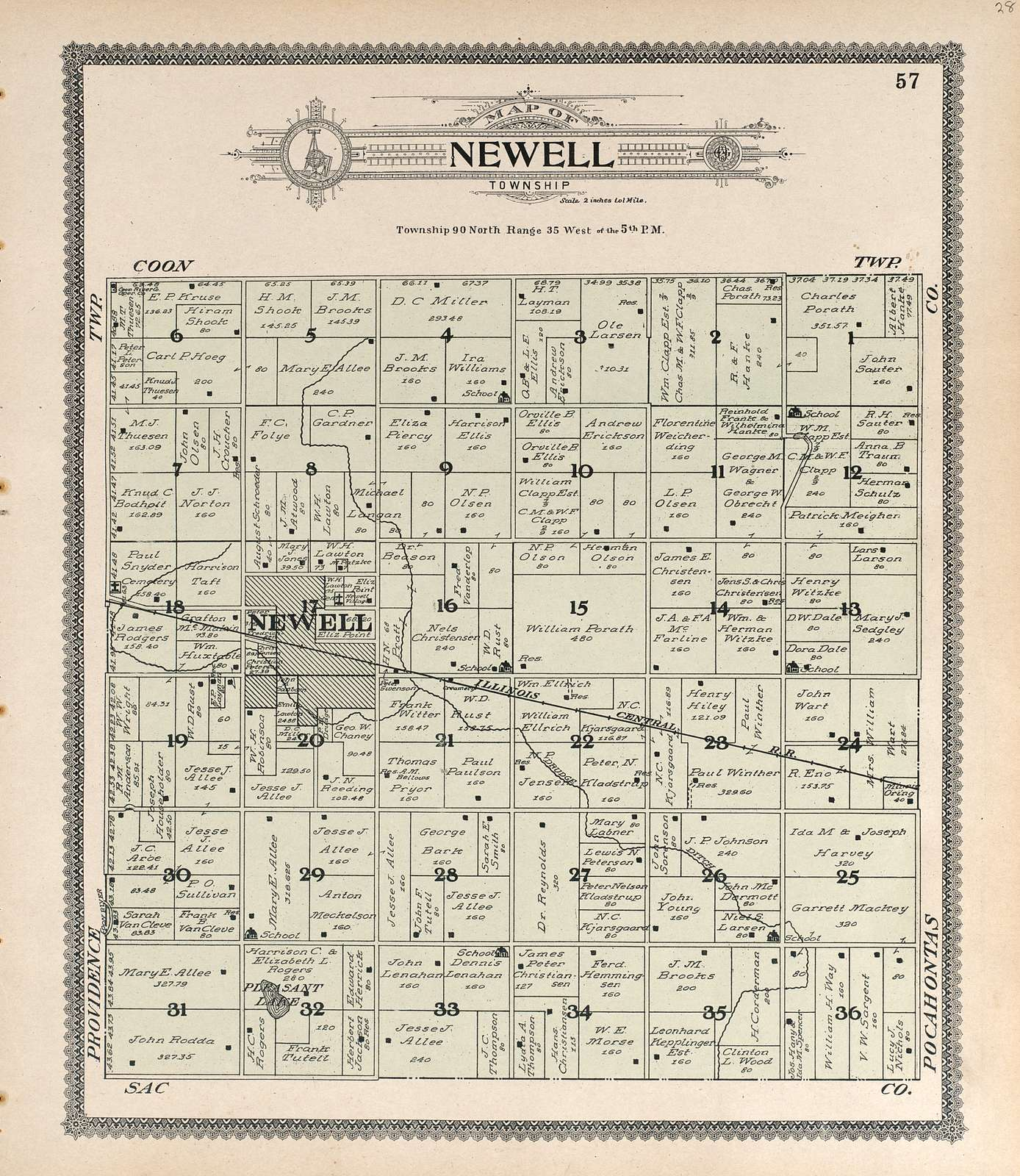 Standard atlas of Buena Vista County, Iowa : including a plat book of the villages, cities and townships of the county, map of the state, United States and world, patrons directory, reference business directory and departments devoted to general information, analysis of the system of U.S. land surveys, digest of the system of civil government, etc. etc. /
