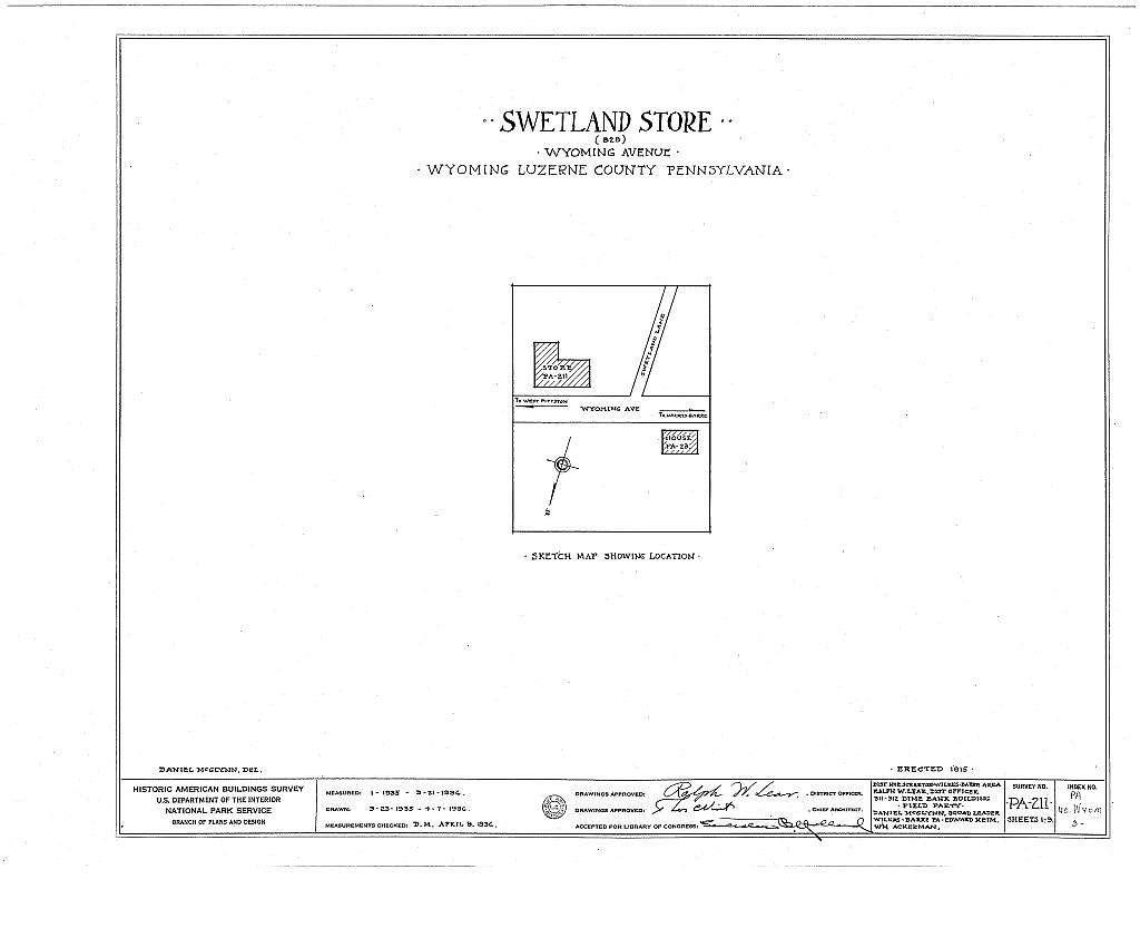 Swetland Store, 828 Wyoming Avenue, Wyoming, Luzerne County, PA