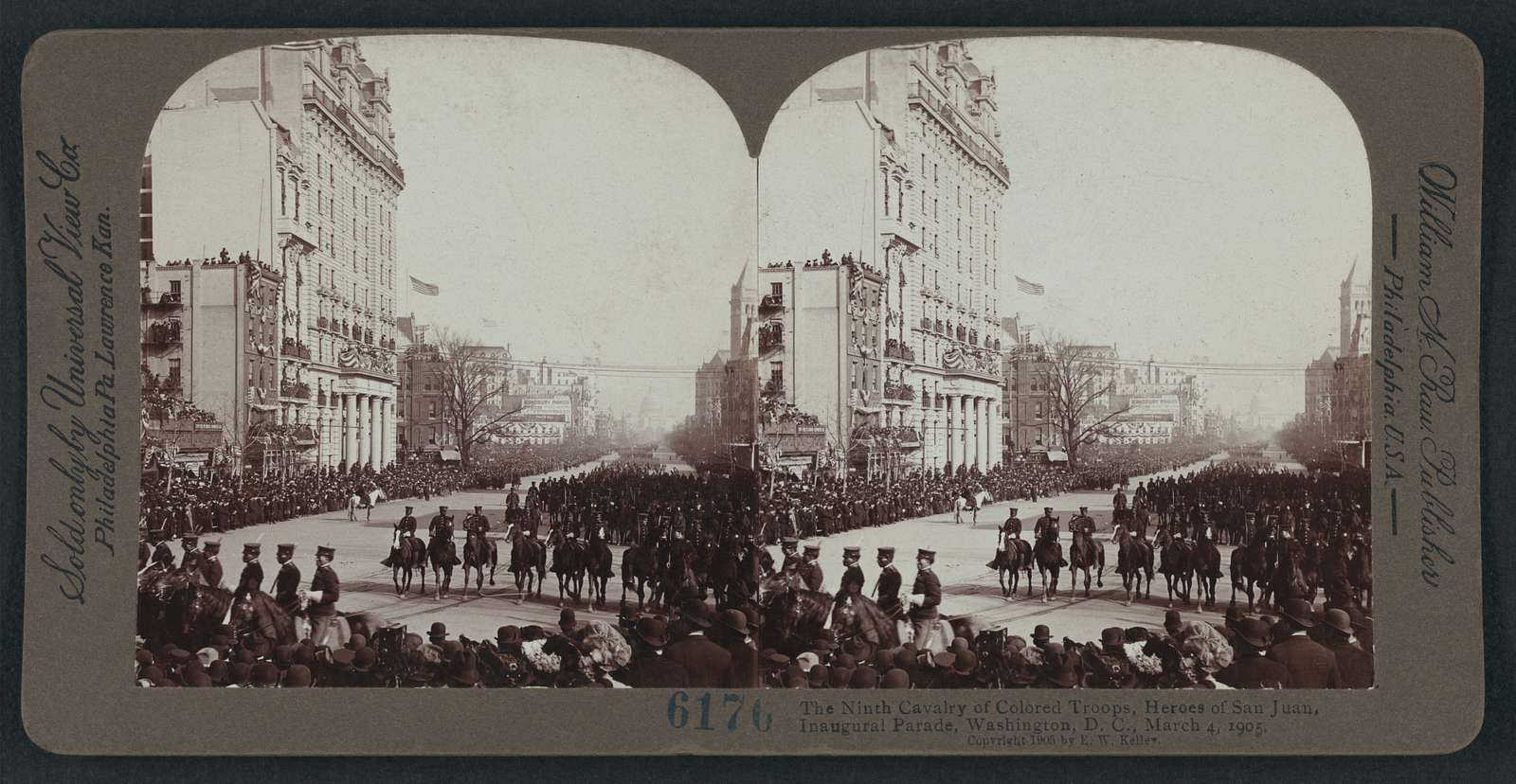 The Ninth Cavalry of Colored Troops, heroes of San Juan, inaugural parade, Washington, D.C., March 4, 1905