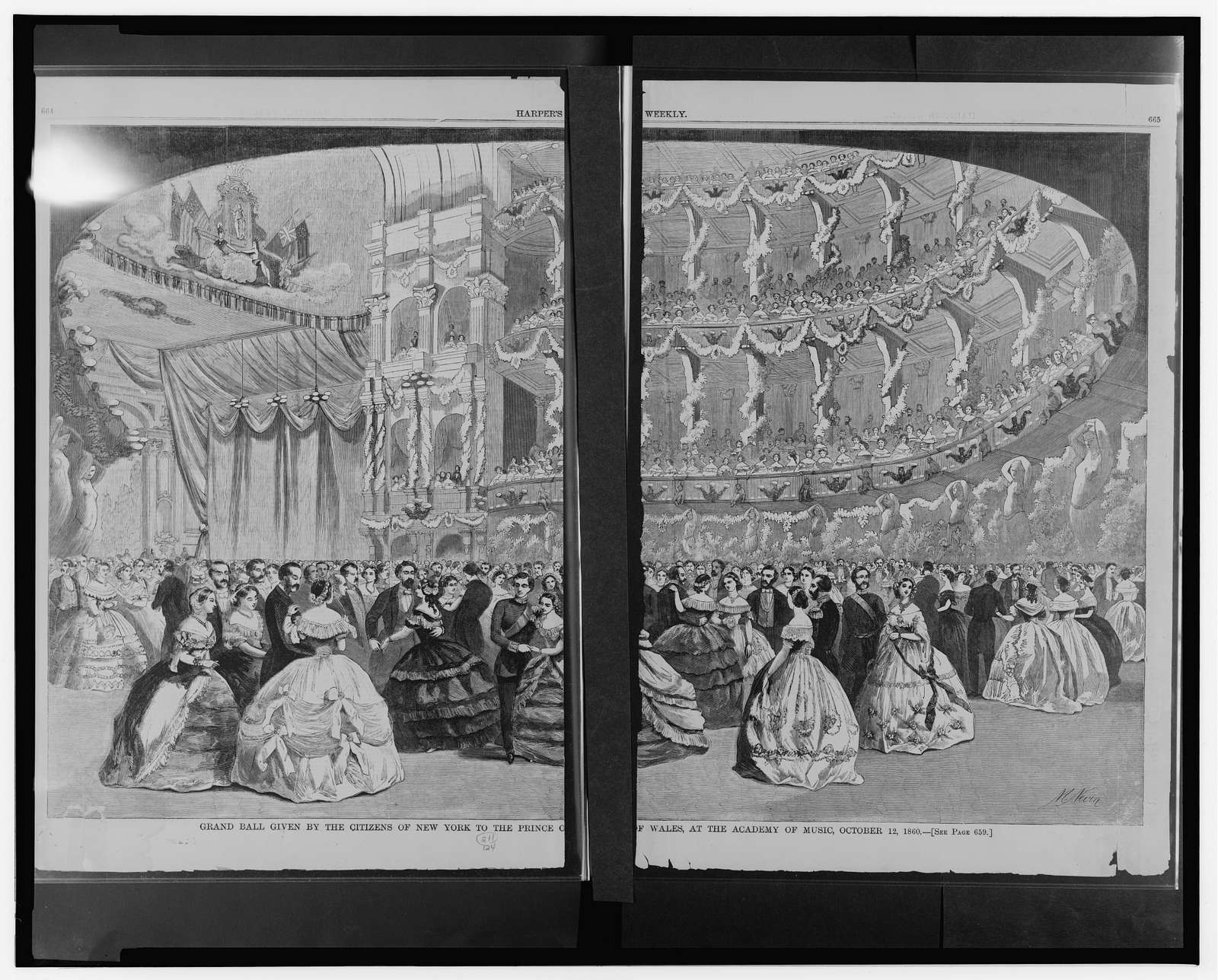 Grand ball given by the citizens of New York to the Prince of Wales, at the Academy of Music, October 12, 1860