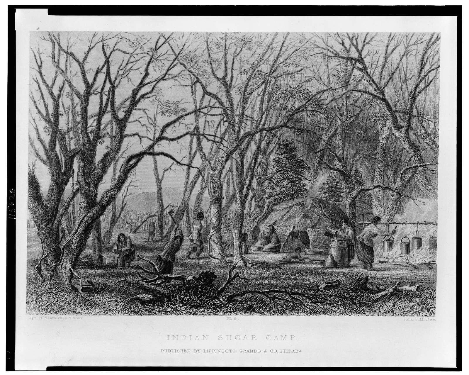 Indian sugar camp / Capt. S. Eastman, U.S. Army ; John C. McRae.
