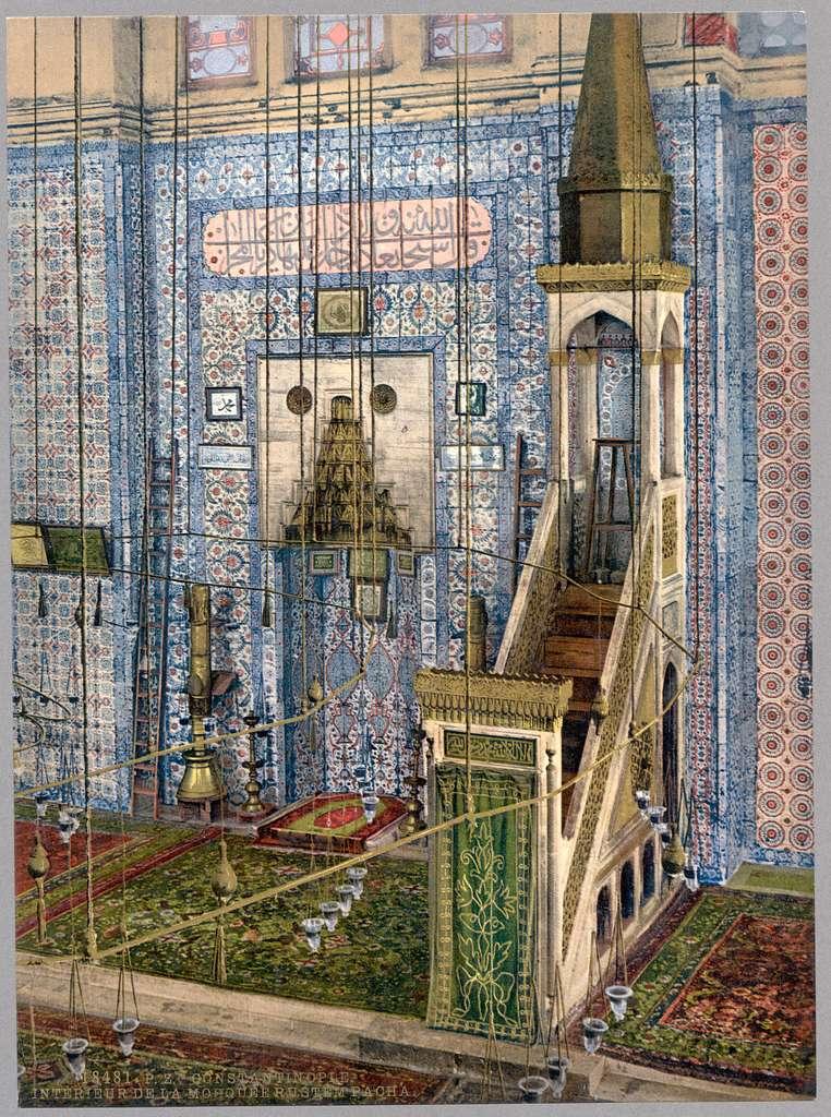 [Interior of mosque Rüstem Paşa,Constantinople, Turkey]