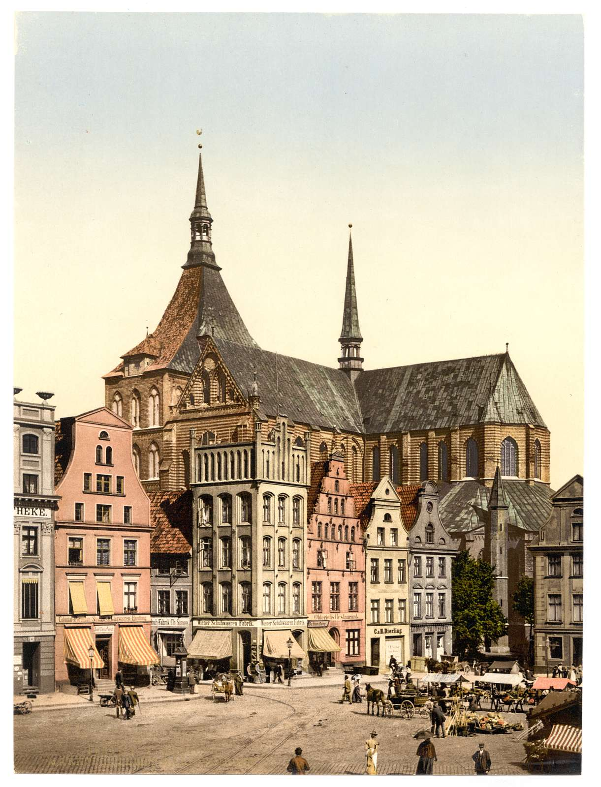 [Market place and Marien Church, Rostock, Mecklenburg-Schwerin, Germany]