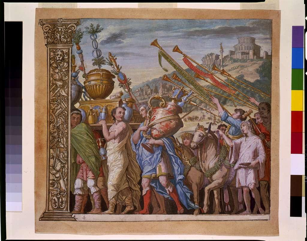 [Triumph(us) Caesaris (The triumph of Julius Caesar), plate 4]