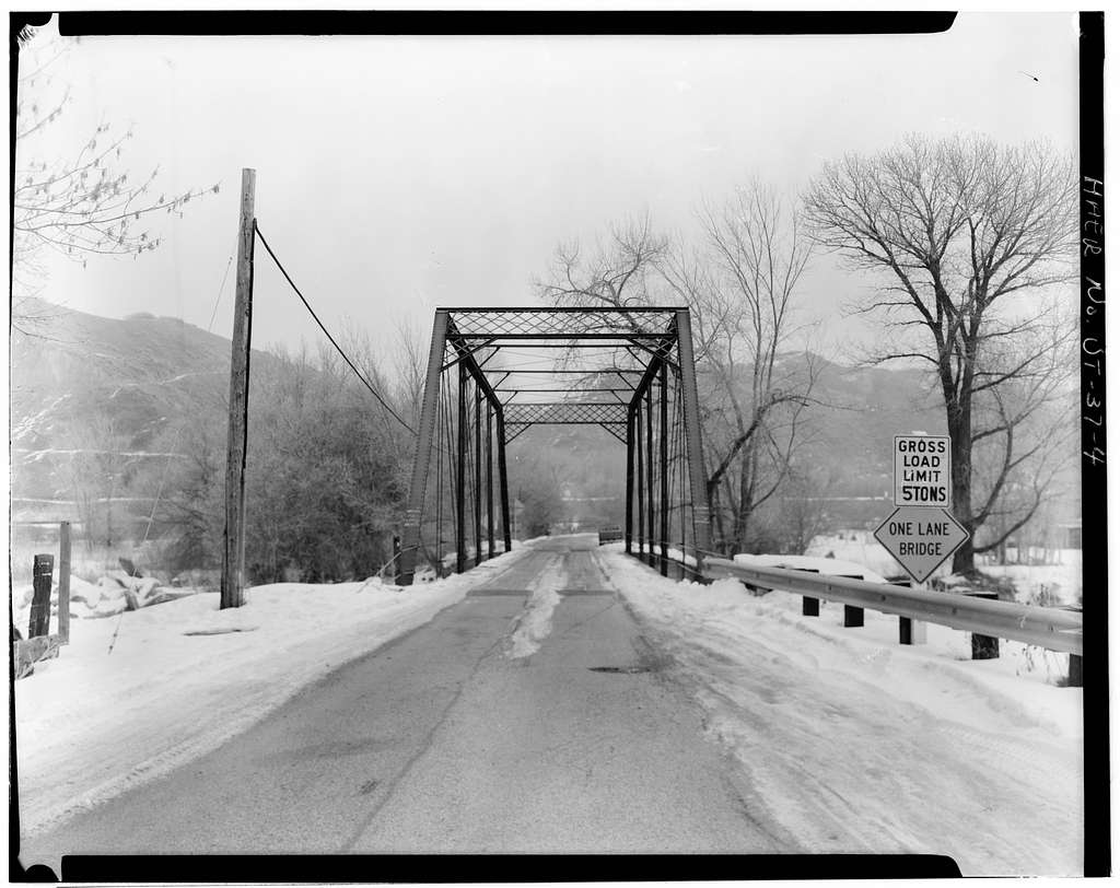 Uintah Bridge, Spanning Weber River at 6600 South Street, Uintah, Weber County, UT