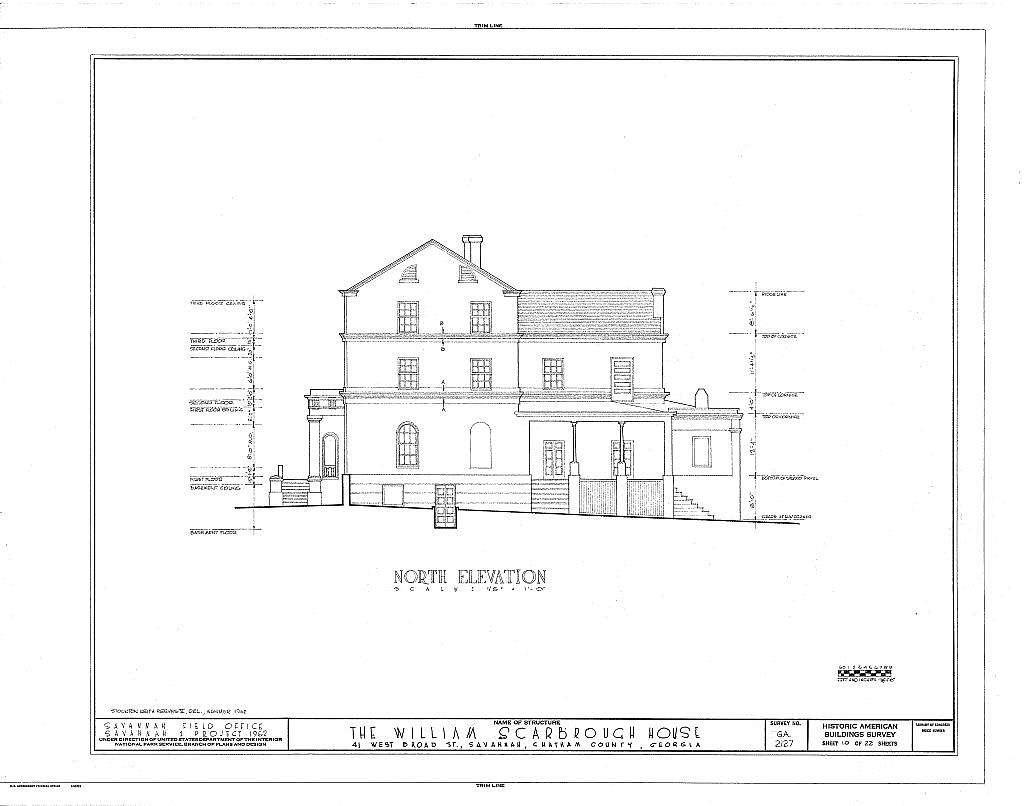 William Scarborough House, 41 West Broad Street, Savannah, Chatham County, GA