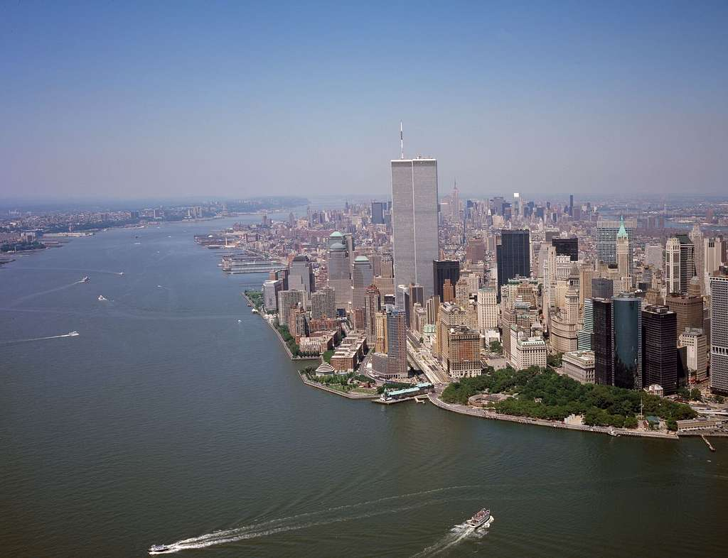Aerial view of the World Trade Center, New York, New York