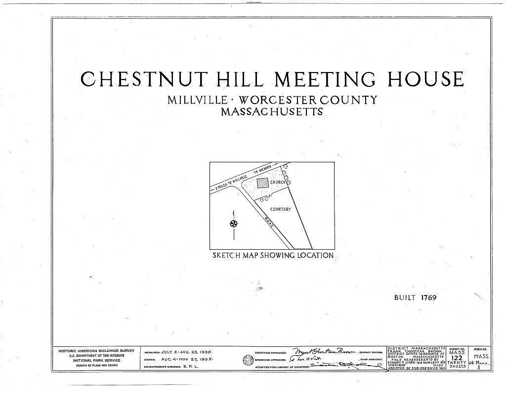 Chestnut Hill Meetinghouse, Chestnut Street, Millville, Worcester County, MA