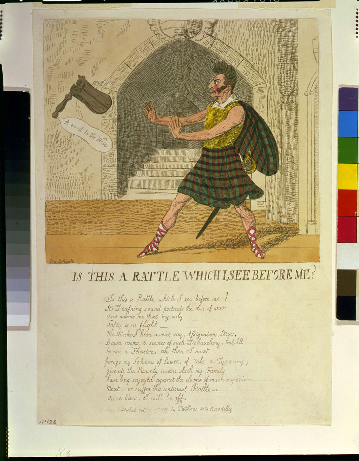 Is this a rattle which I see before me / Cruikshank.