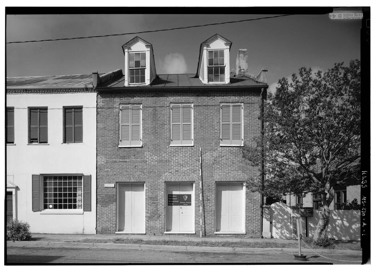 Johnson & McCallum Houses, William Johnson House, 210 State Street, Natchez, Adams County, MS