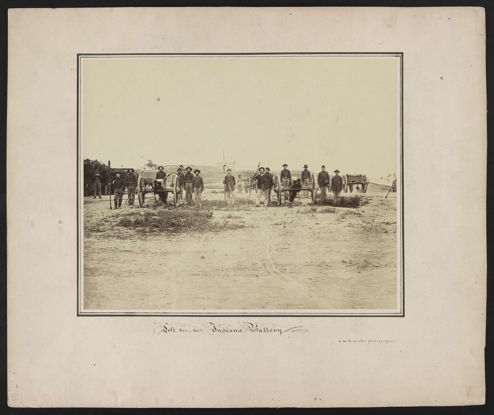 Left sec. 20th Indiana Battery, Chattanooga, Tenn. / I. H. Bonsall, photographer.