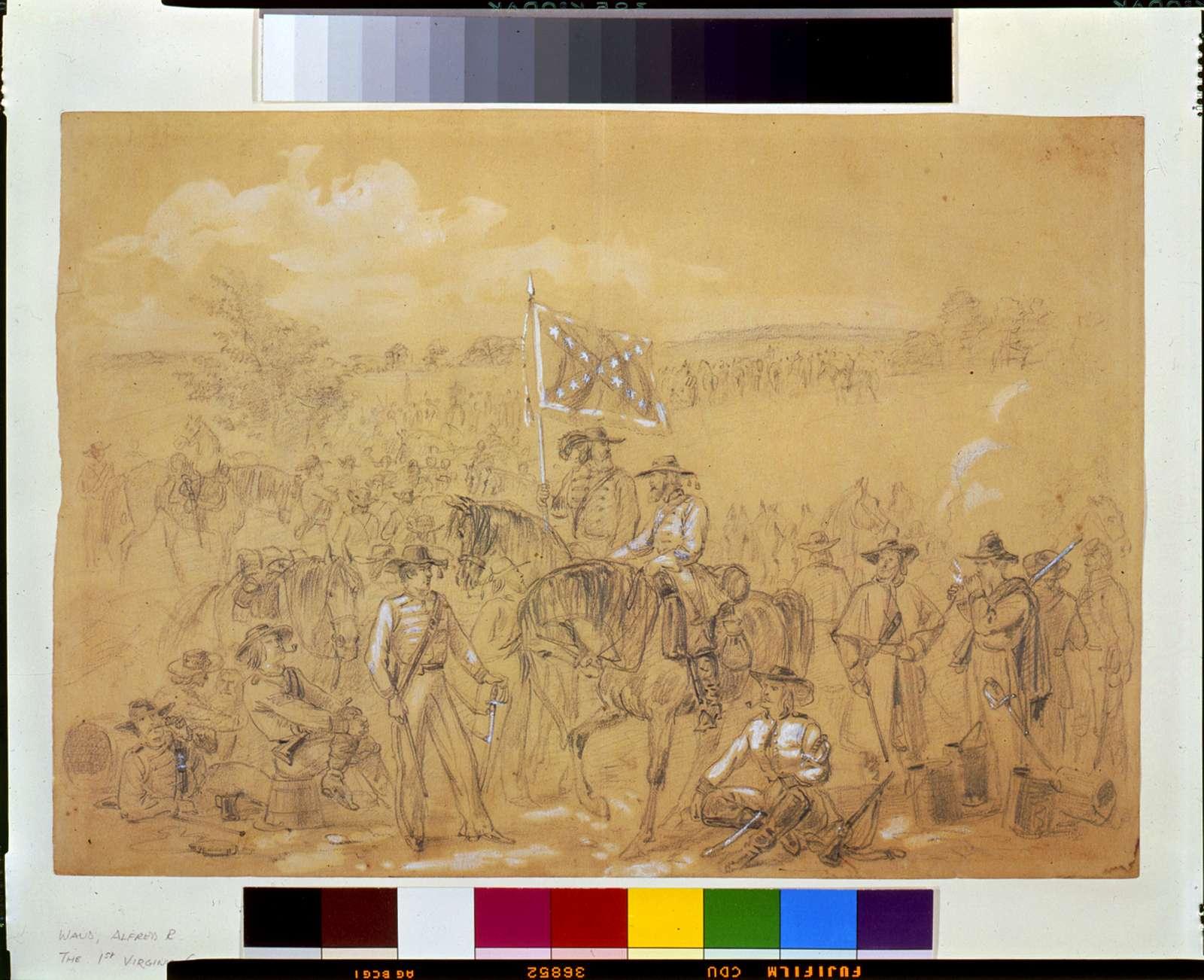 [The 1st Virginia Cavalry at a halt]