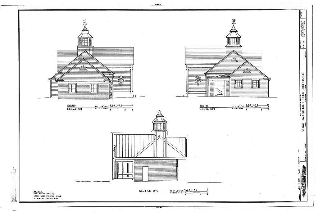 Veraestau, Carriage House & Stable, Holman Hill Road, Aurora, Dearborn County, IN