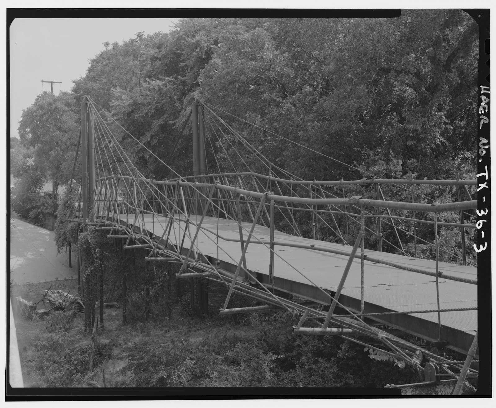 Bluff Dale Suspension Bridge, Spanning Paluxy River at County Route 149, Bluff Dale, Erath County, TX