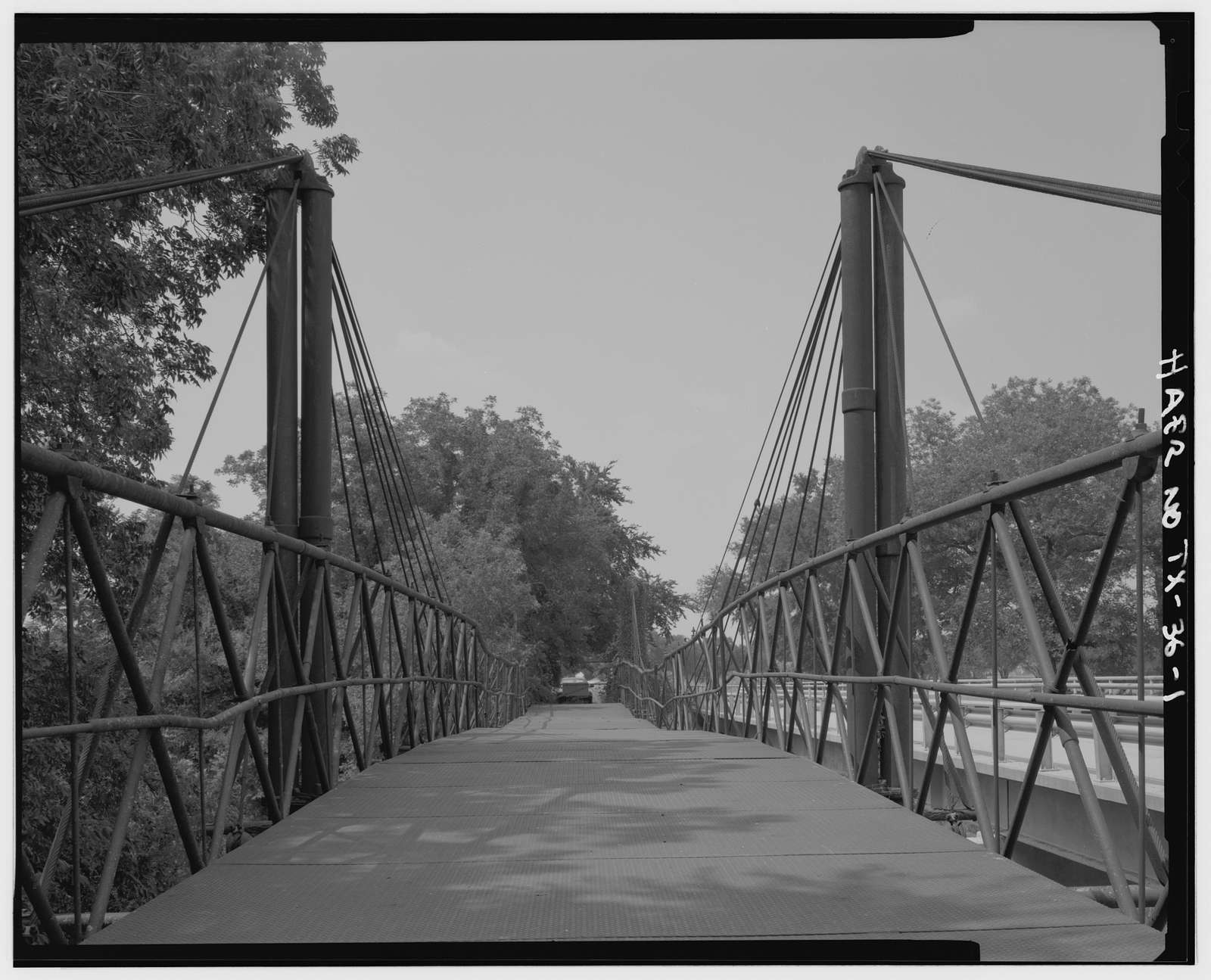 Bluff Dale Suspension Bridge, Spanning Paluxy River at County Route 149, Bluff Dale, Erath County, TX