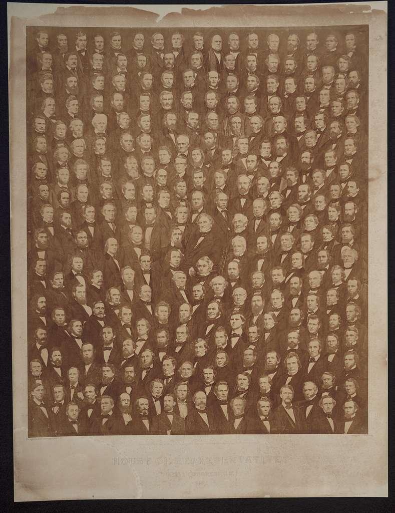 House of Representatives, XXXVI Congress, U.S., 1860 / M. B. Brady.