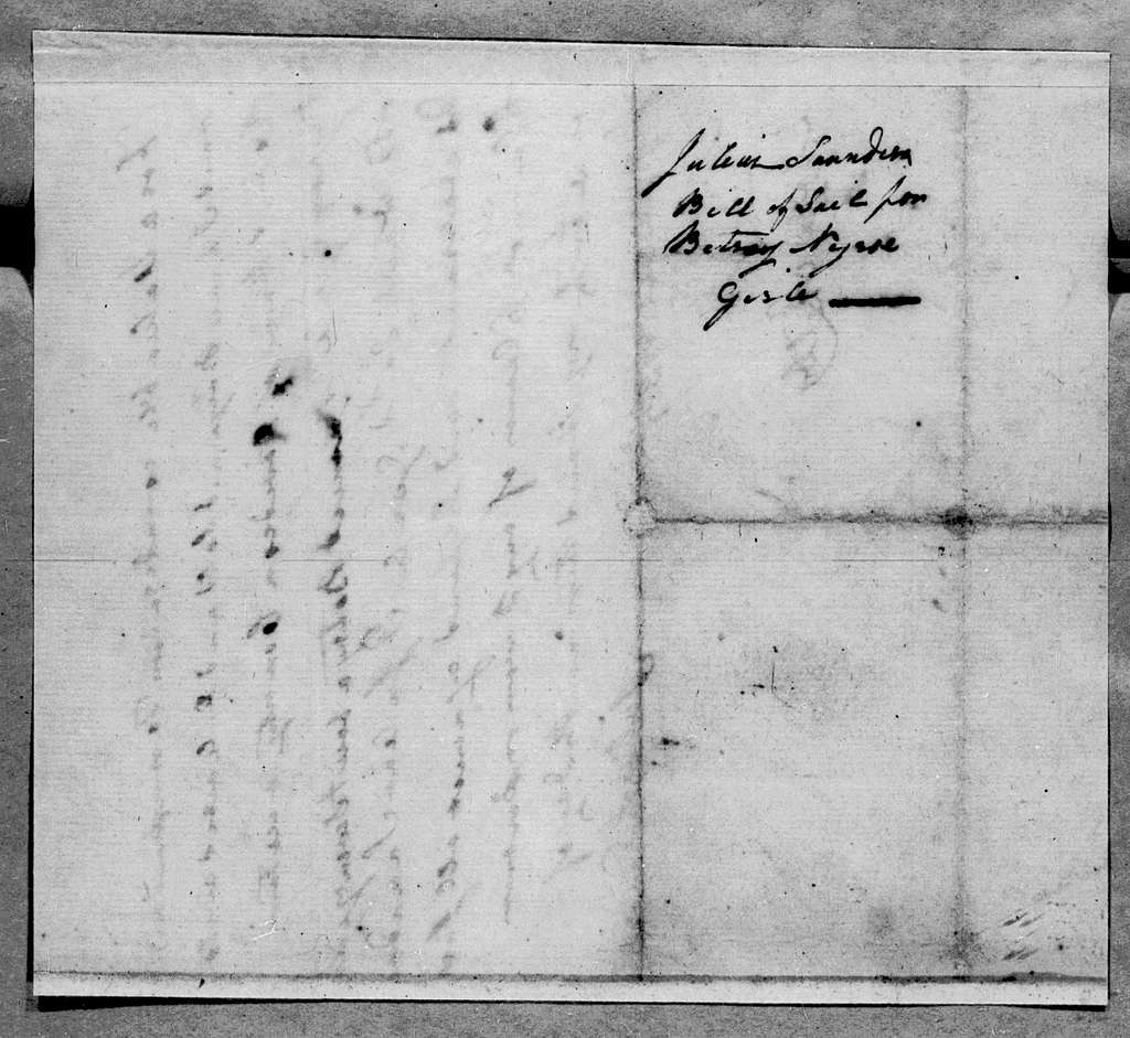 Julius Saunders to Robert Hays, September 9, 1785