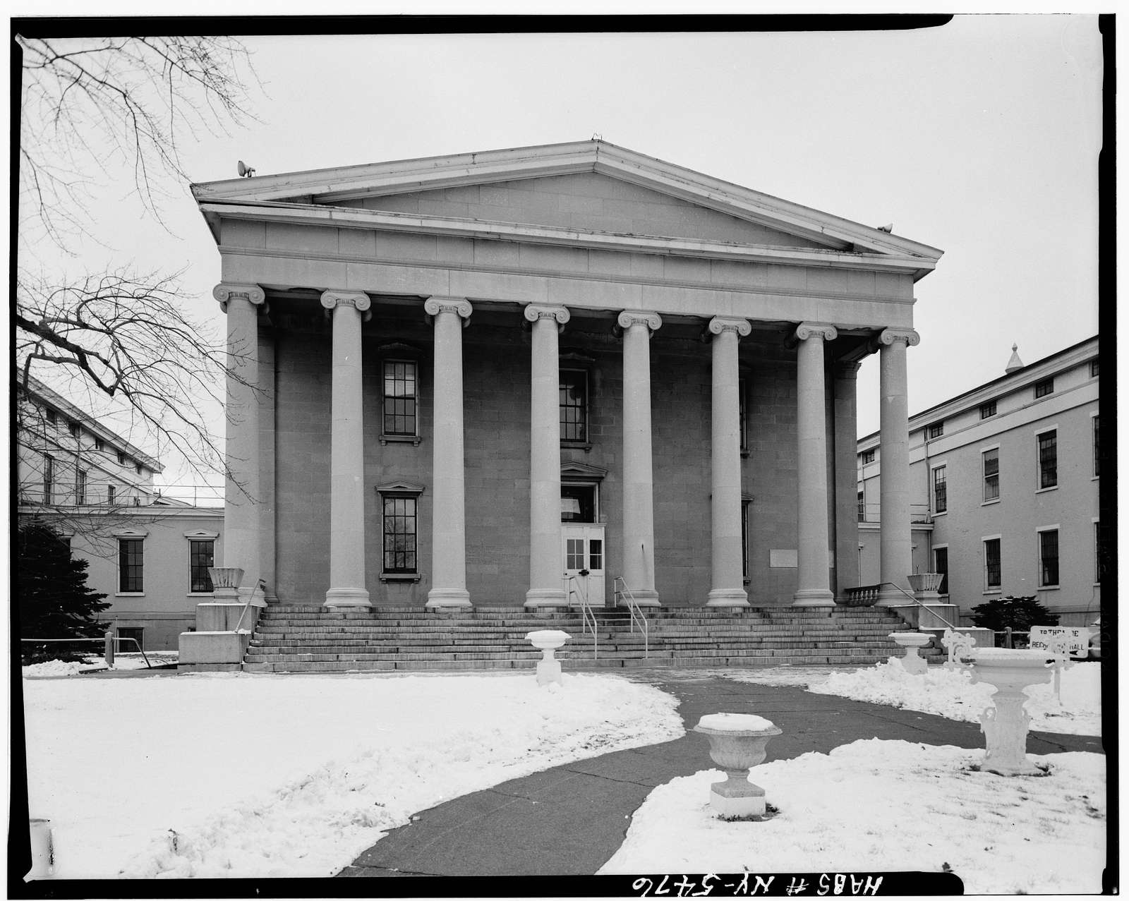 Sailors' Snug Harbor, Dormitory C & Administration Building, Richmond Terrace, New Brighton, Richmond County, NY