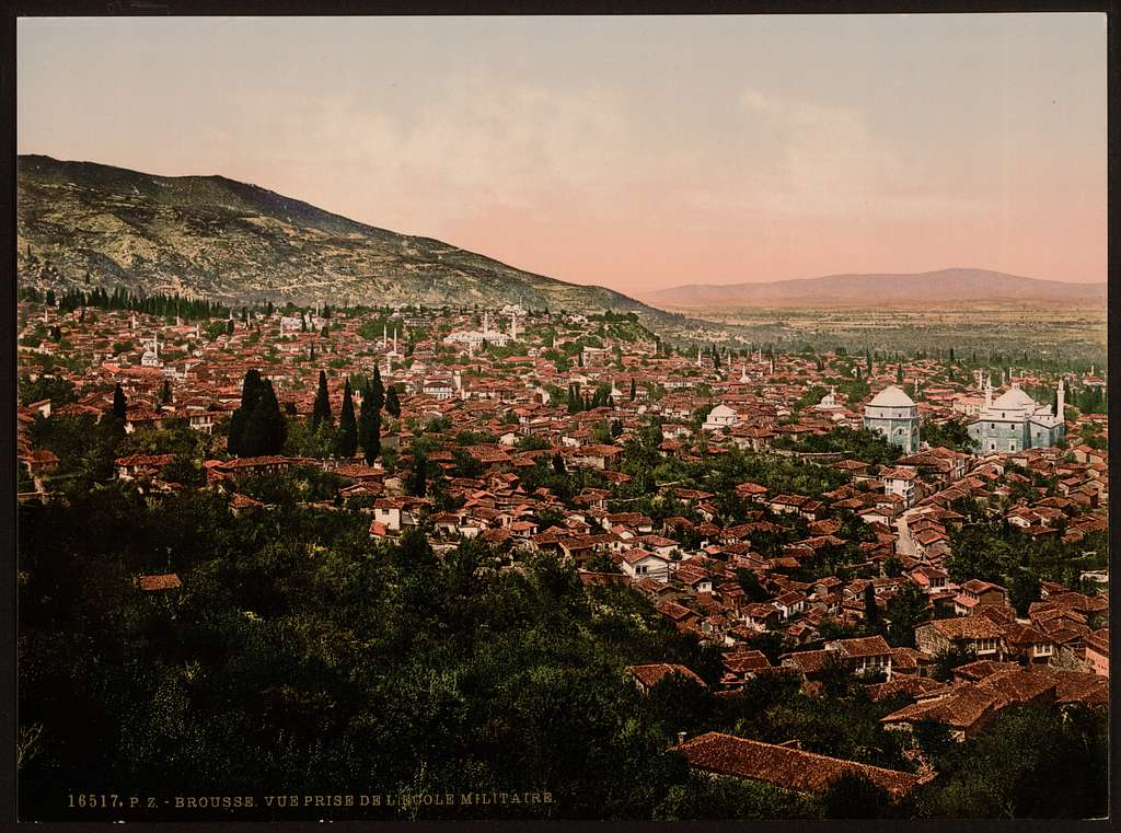 [View of the city, Bursa, Turkey]