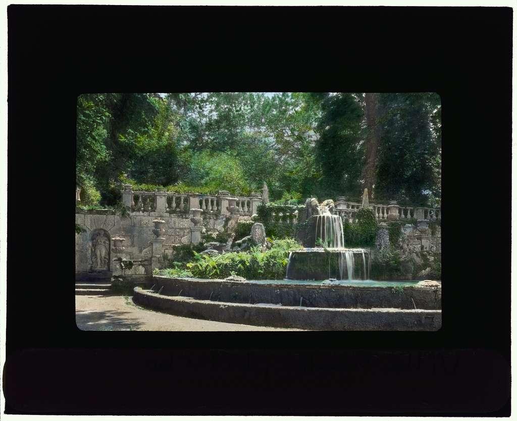 [Villa Lante, Bagnaia, Lazio, Italy. Fountain of the Giants]