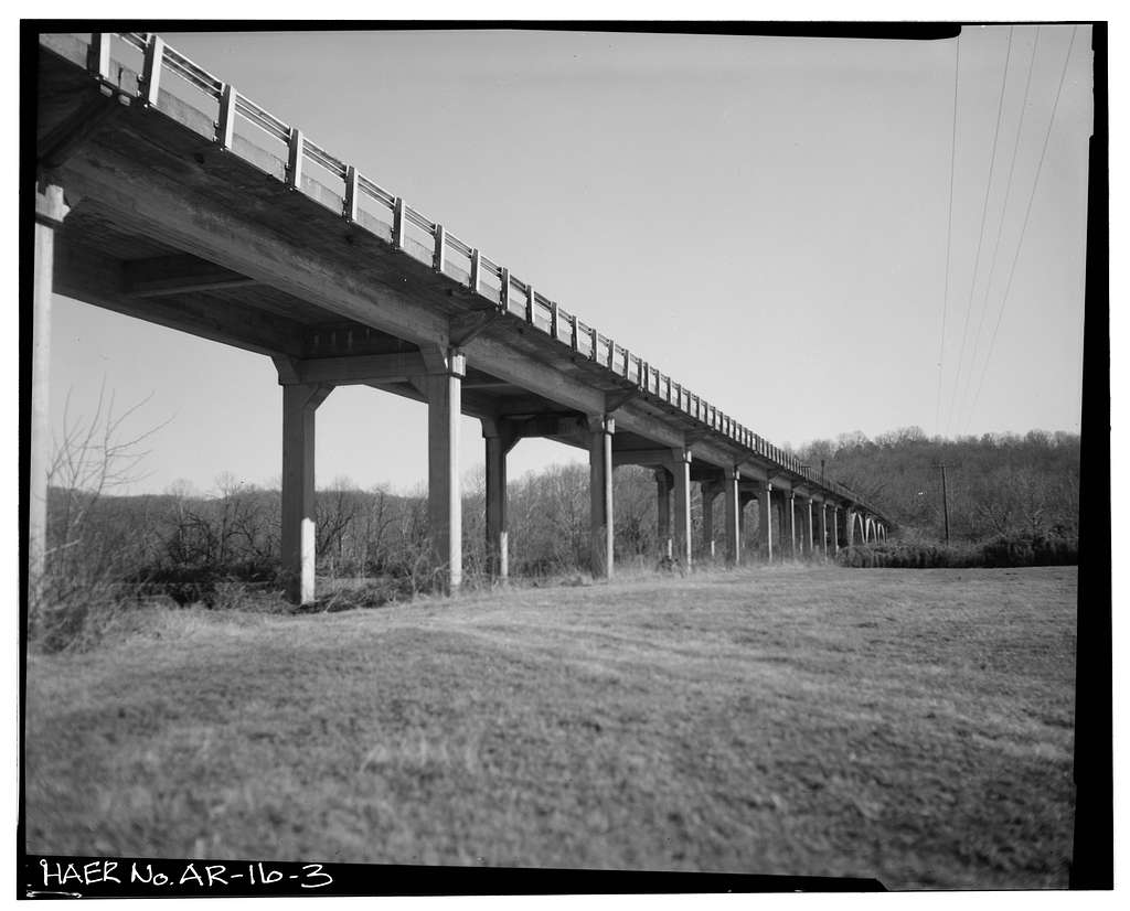 Buffalo River Bridge, Spanning Buffalo River on U.S. Highway 65, Marshall, Searcy County, AR