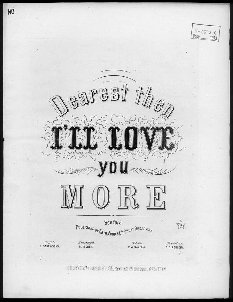 Dearest, then I'll lvoe you more