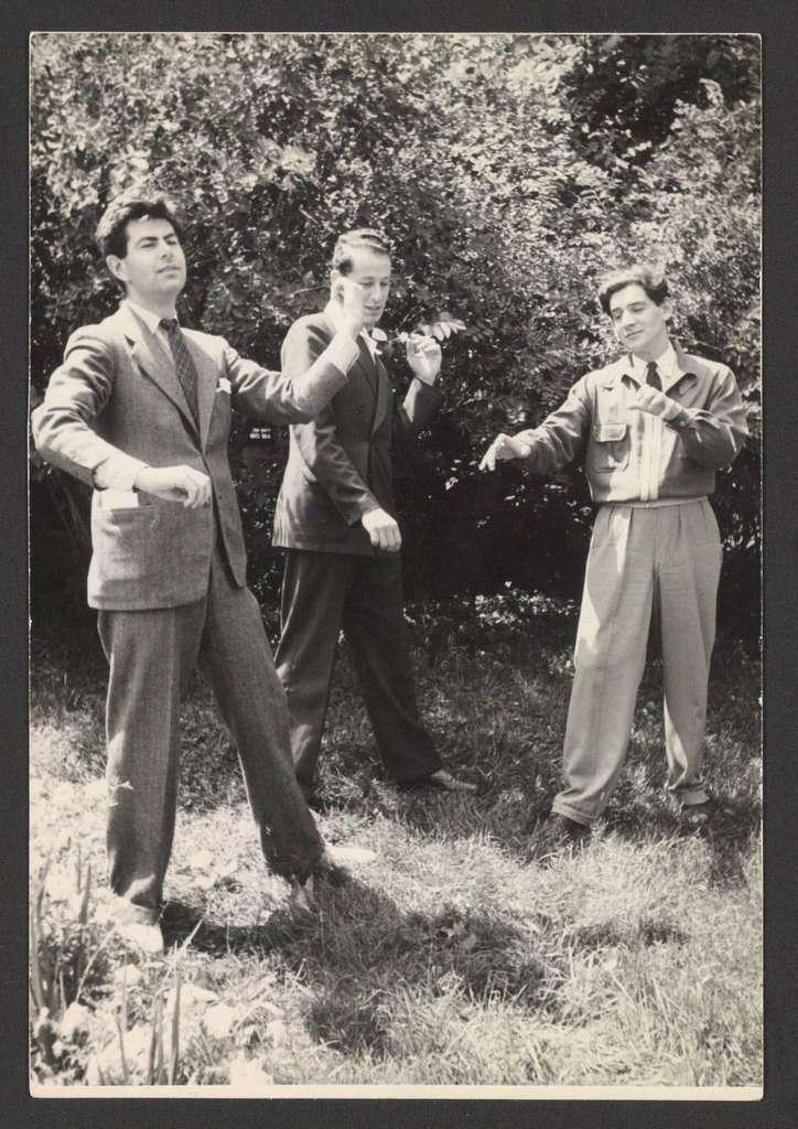 Leonard Bernstein with Friends at Tanglewood, 1939?