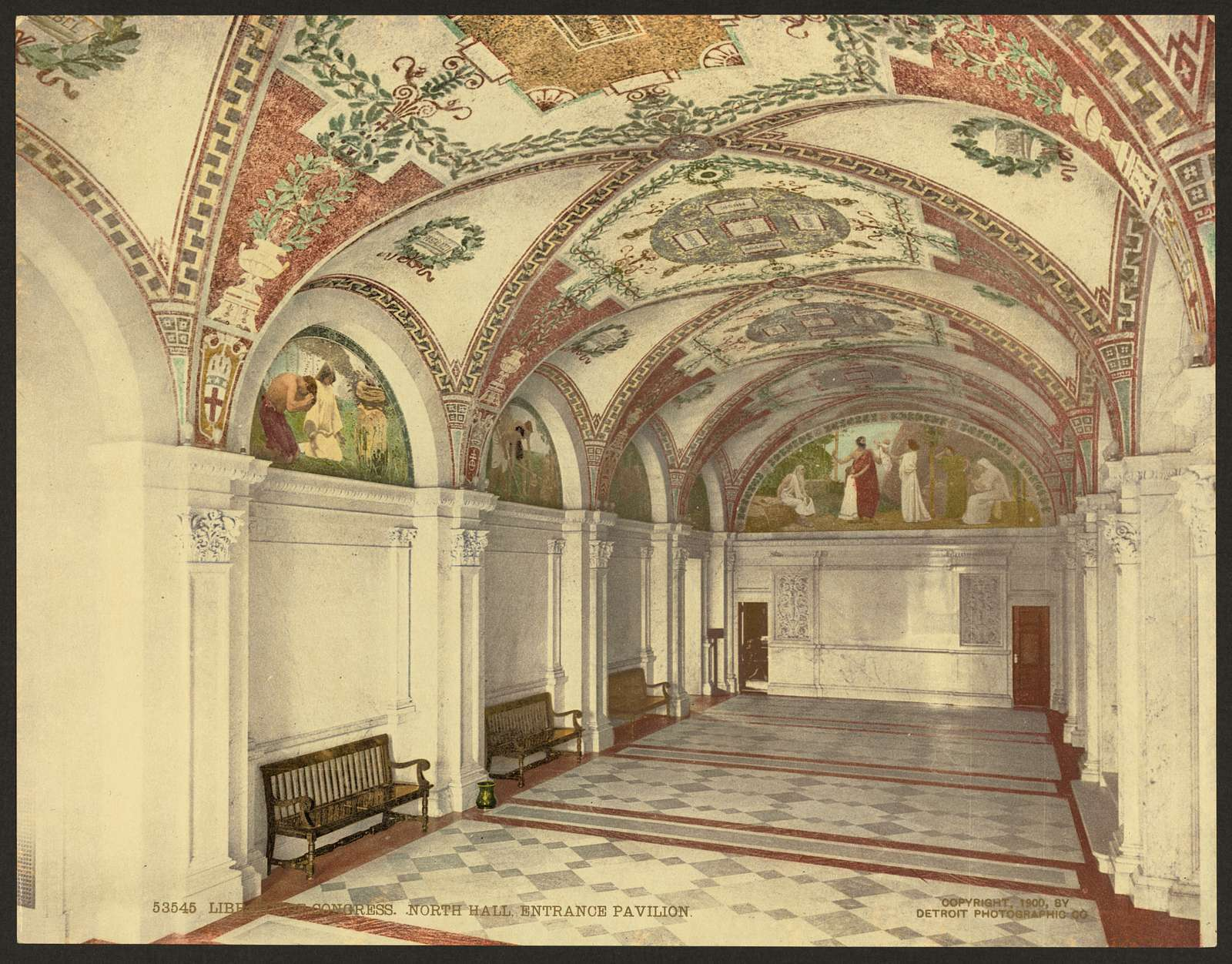 Library of Congress, north hall, entrance pavillion