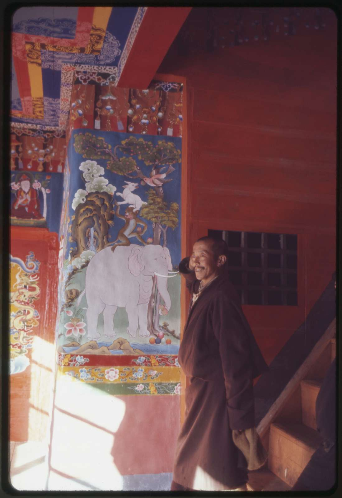 Rinchen in Lachung Monastery - wall - allegorical painting