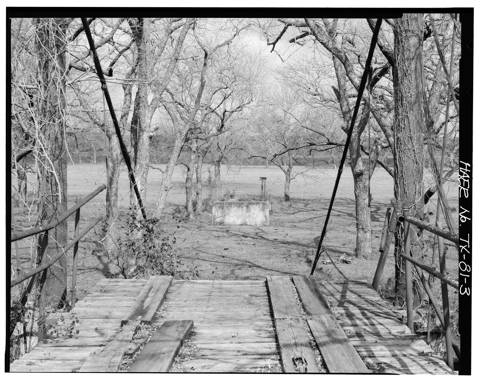 Rock Church Suspension Bridge, Spanning Paluxy River, Tolar, Hood County, TX