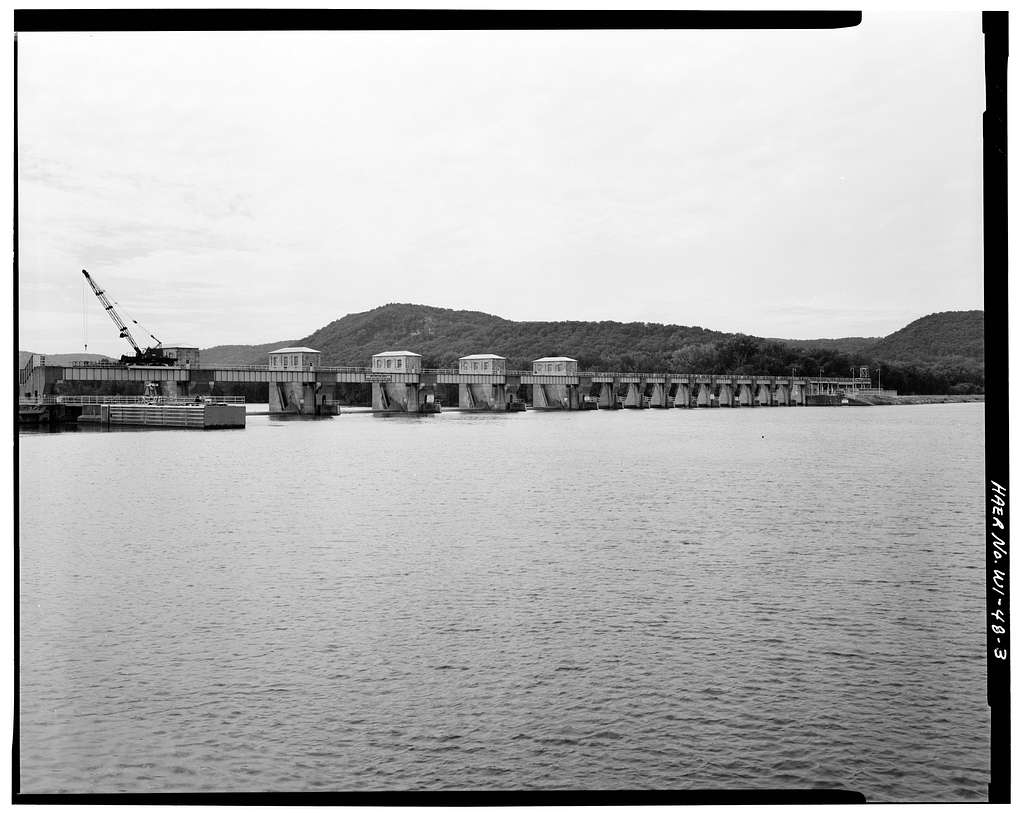 Upper Mississippi River 9-Foot Channel, Lock & Dam No. 6, Trempealeau, Trempealeau County, WI