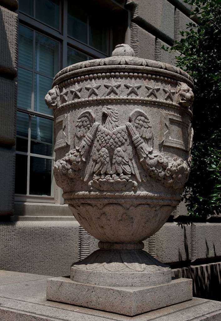 Urn, Herbert C. Hoover Building, U.S. Department of Commerce, Washington, D.C.
