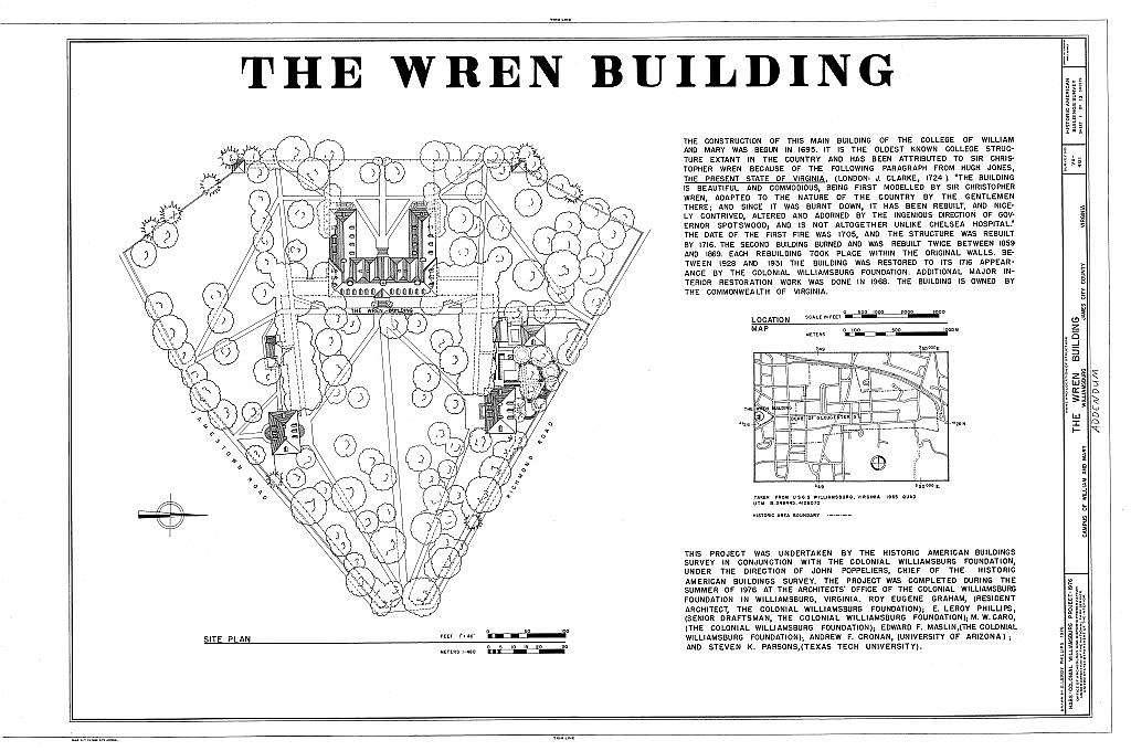 William & Mary College, Main Bulding, College Yard, Williamsburg, Williamsburg, VA