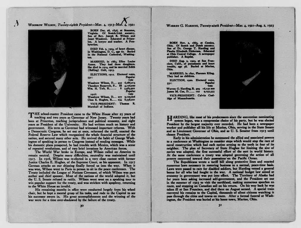 Woodrow Wilson Papers: Series 15: Writings about Wilson, 1897-1961; 1897-1943